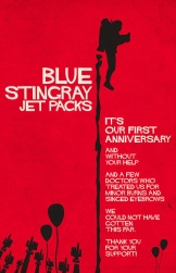 Blue Stingray Jet Packs Poster