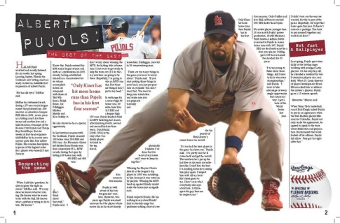 Sports Magazine Spread