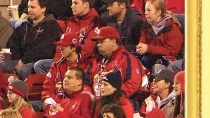My Dad and I in MLB's GigaPan photo of Game 6, taken after top of the 7th